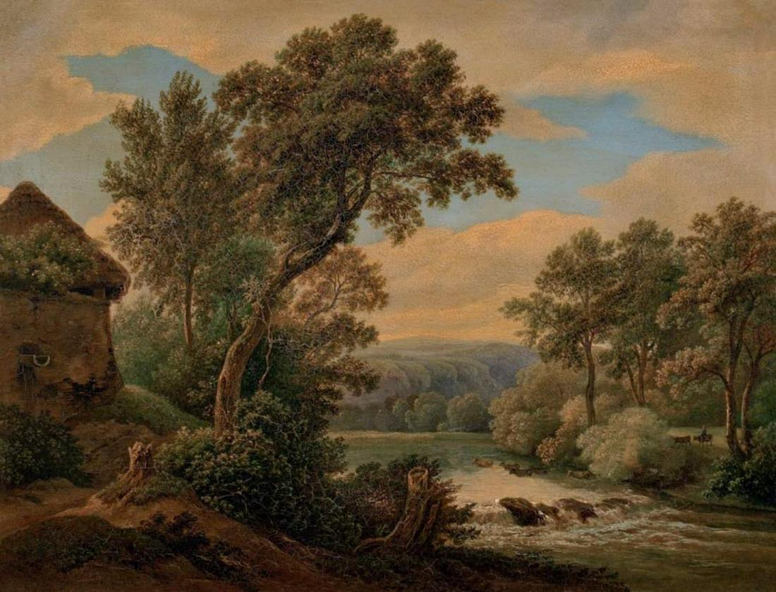Mánes, Antonín /  Landscape with River