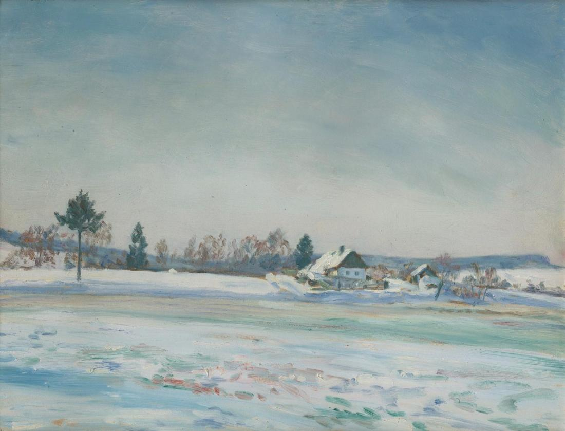 Kaván, František / Winter in the village