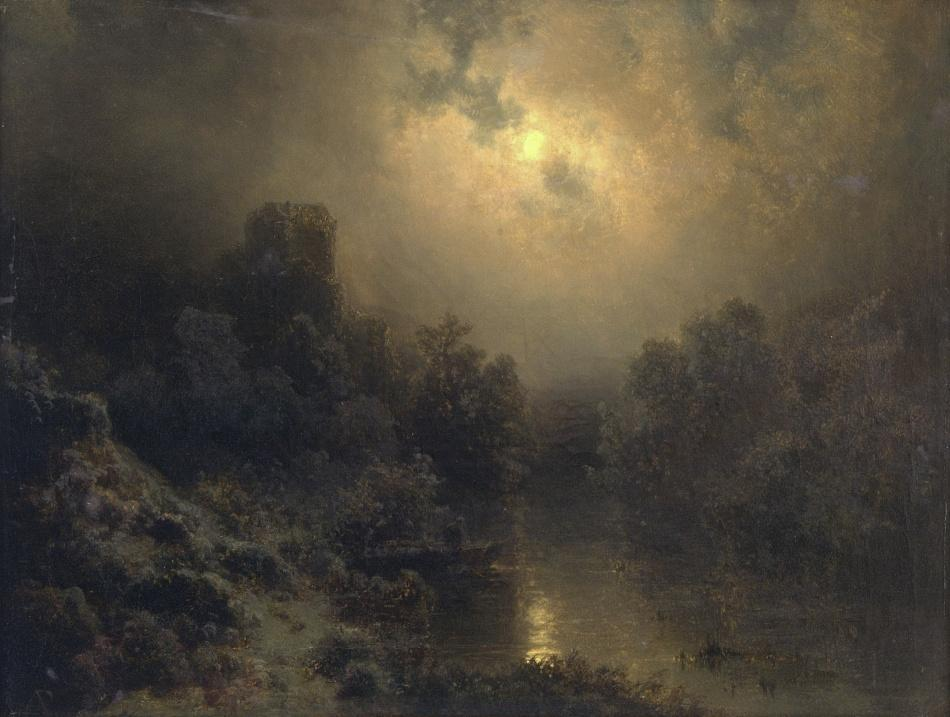 August Bedřich Piepenhagen / Moonlit Night