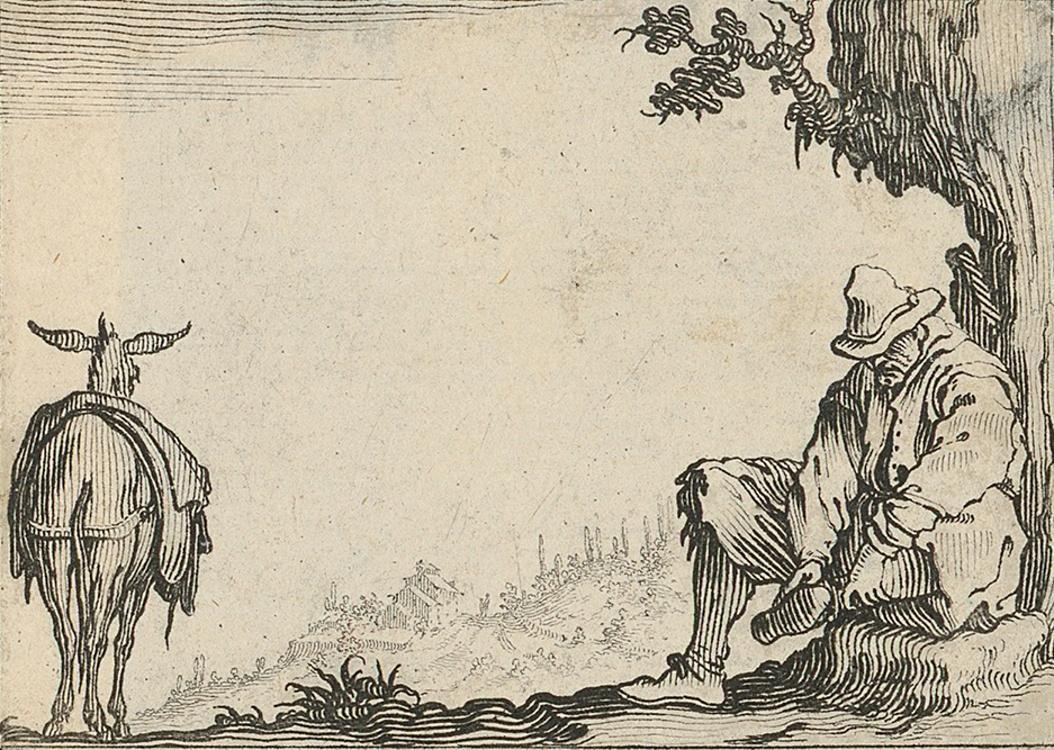 Callot, Jacques / Peasant resting – from the cycle Caprici di varie figure
