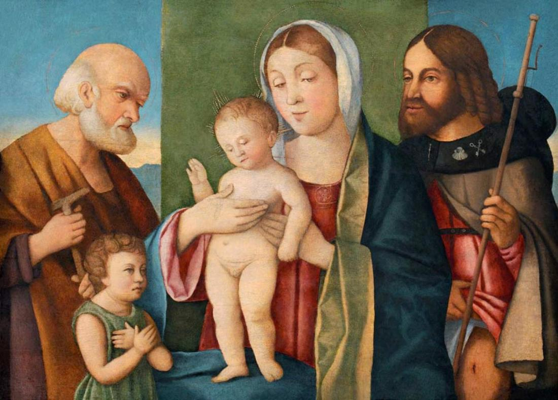 Marco Bello / The Holy Family with the John the Baptist as a Child and St Roch